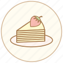 cake, cook, cooking, crepe, cupcake, dessert, eating, muffin, restaurant, snack, strawberry, sweet icon