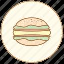 breakfast, burger, cook, cooking, dinner, eating, egg, food, hamburger, kitchen, restaurant icon