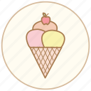 cone, cook, cooking, dessert, eating, food, icecream, kitchen, snack, sweet icon