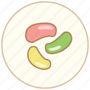 bean, cake, dessert, dinner, eating, food, jelly, kitchen, snack, sweet icon