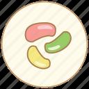 bean, cake, dessert, dinner, eating, food, jelly, kitchen, snack, sweet icon