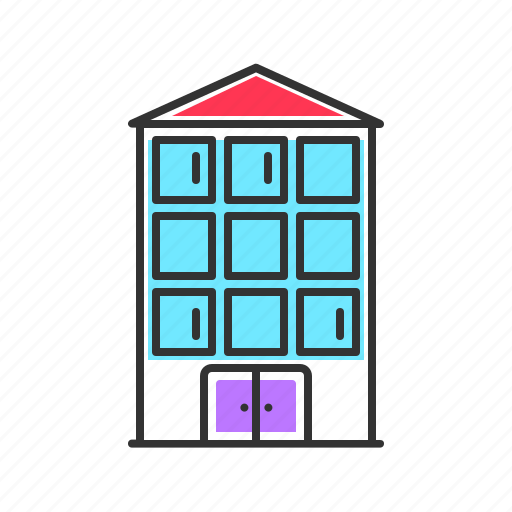 apartment, building, city, hotel icon