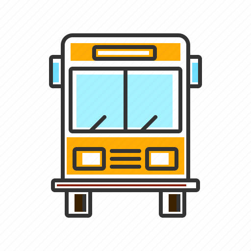 bus, bus service, transport, transportation, vichele icon