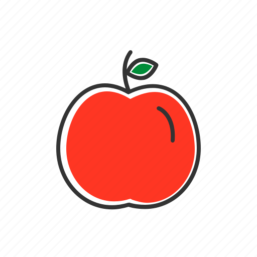 apple, fruits, red apple, vitamins icon