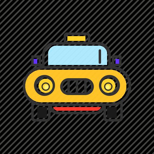 cab, taxi, transport, transportation, vichele icon