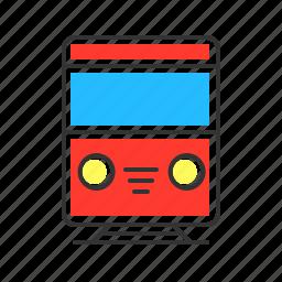 metro, public transport, rail, railways, train, transport, transportation icon
