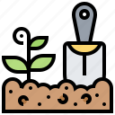 agriculture, farming, field, plant, practical icon