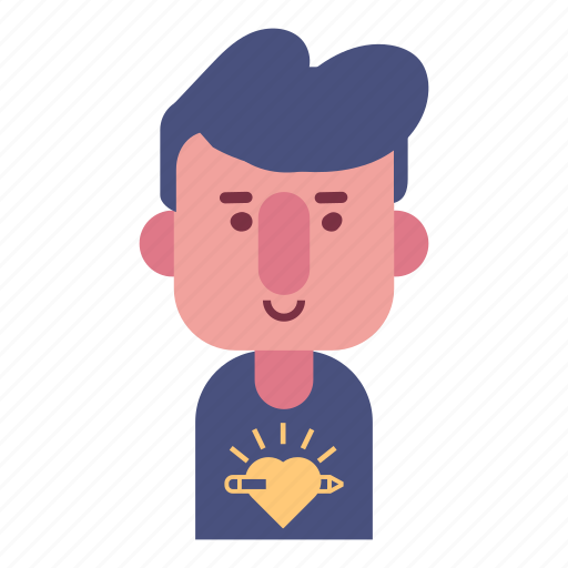 avatar, designer, face, male, man, smile, user icon