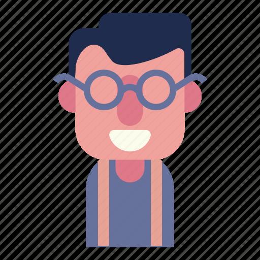 avatar, face, geek, male, man, techer, user icon