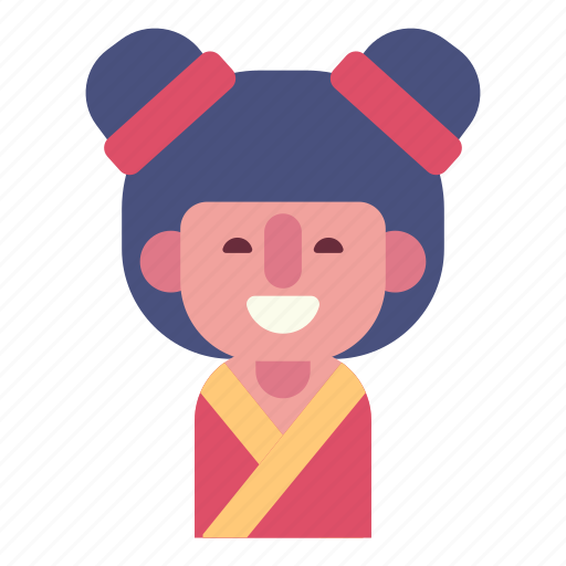 avatar, china girl, emotion, face, female smile, girl, user icon
