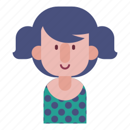 avatar, emotion, face, female smile, girl, user icon