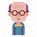 avatar, face, male, man, old man, smile, user icon