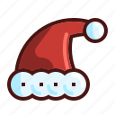 christmas hat, christmass ice, hat, holiday icon