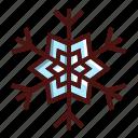 snowflake, christmas, ice, snow