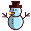 hat, snowman, man, christmas, ice