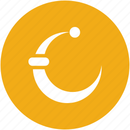 christmas, hat, moon, night icon
