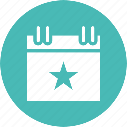 calendar, christmas, day, star icon