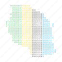 african, location, map, nation, tanzania icon