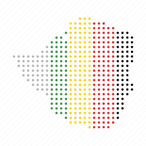 african, country, map, nation, zimbabwe icon