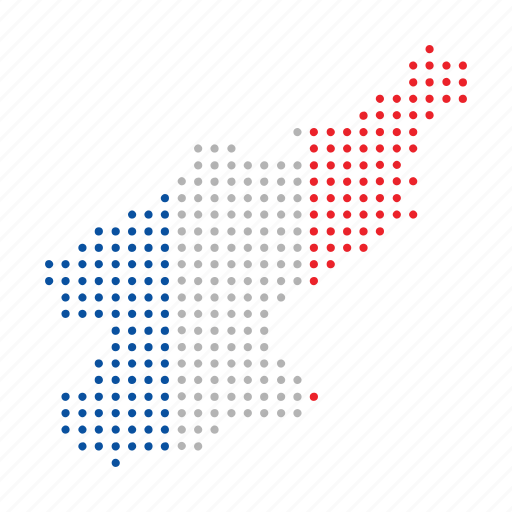 country, korea, map, nation, north icon