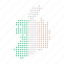country, ireland, map, of, republic icon