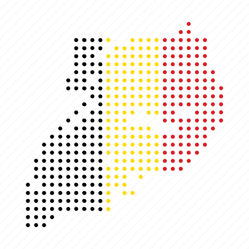 country, location, map, nation, uganda icon