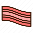 bacon, breakfast, cook, cooking, food, meal, meat icon