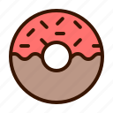 cake, candy, dessert, donut, food, sweet icon
