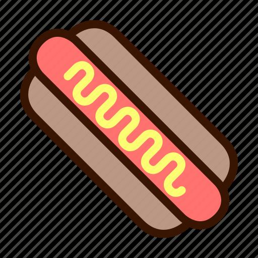 Fast food, food, hot dog, meal, meat, sausage icon - Download on Iconfinder