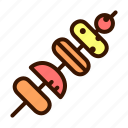 barbecue, food, grill, meal, meat, skewer icon