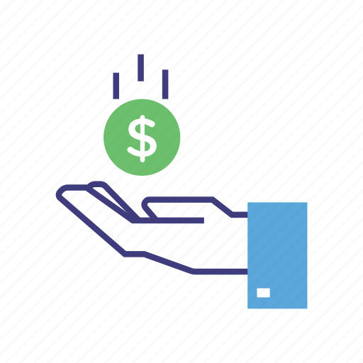 banking, benefit, buy, coin, finance, hand, payment, purchase icon