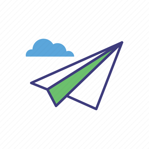air, mail, message, plane, send, sent icon
