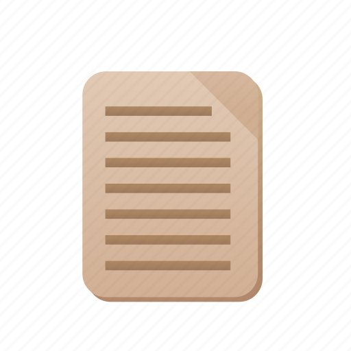 document, file, note, text, word icon