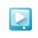 cilp, play, video, youtube icon