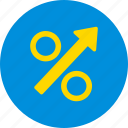 chart, color, percentage, round, statistic icon