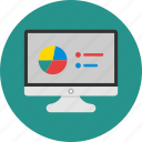 chart, color, computer, round, statistic icon