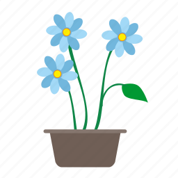 flower, grow, home, plant icon