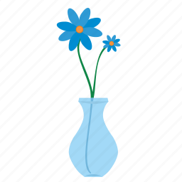 bud, flower, glass, home, plant, vase icon