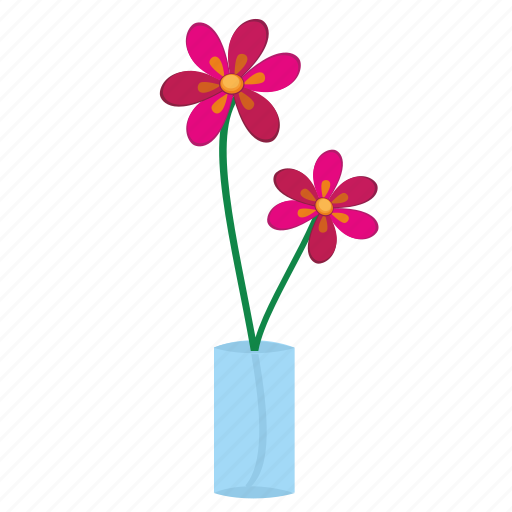 flower, glass, home, plant icon