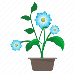 flower, home, leaves, nature, plant icon