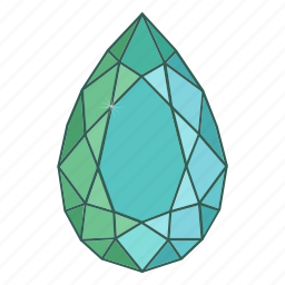 colored, drops, gems, jewel, precions, stone icon