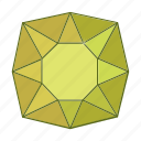 colored, gems, jewel, precions, stone icon