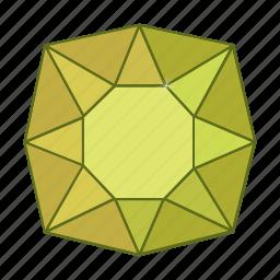 colored, gems, jewel, precions, stone icon
