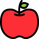apple, food, fresh, fruit, healthy icon