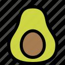 avocado, fresh, fruit, healthy, ripe, seed, slice icon