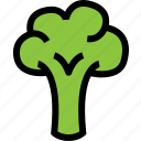 brocolli, food, fresh, healthy, vegetable icon