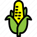 carbohydrate, corn, food, fresh, healthy, vegetable icon