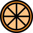 food, fresh, fruit, healthy, orange, slice icon