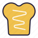 bread, breakfast, food, sandwich, takeaway icon