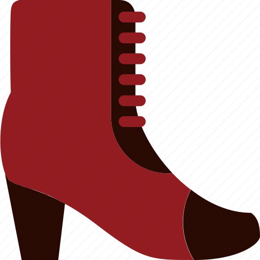 boot, footwear, high, laces, shoe, slipper icon